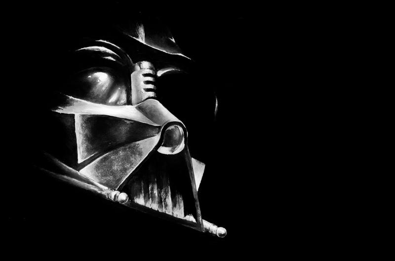 Vader by scott0002 on deviantart for Darth vader black and white