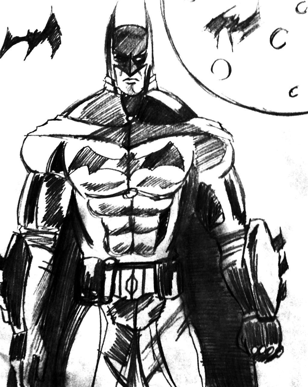 Batman Charcoal Sketch By IsaacVdA On DeviantArt