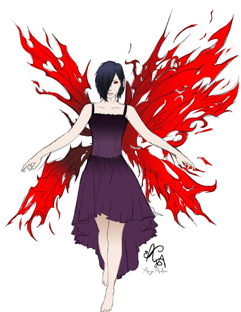 Touka Kirishima (Flat Color) by Angie-Andrea