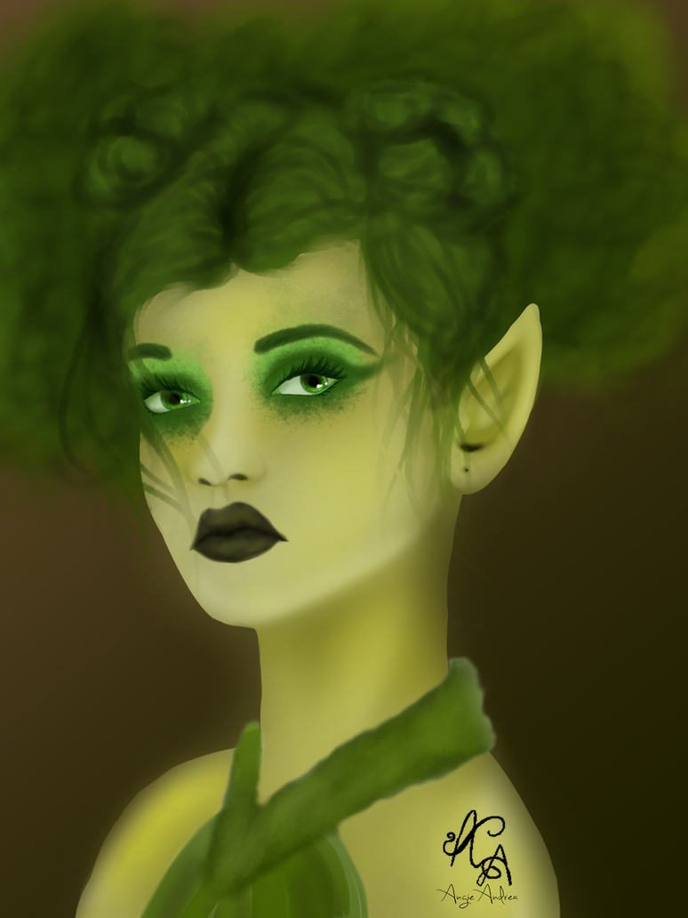 Moss Fairy by Angie-Andrea