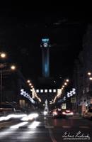 Ostrava - Sightseeing tower Christmas Lights 03 by Zavorka