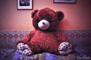 Red Teddy Bear by Zavorka