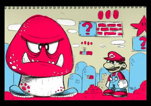 Notepad - Super Mario Bros.