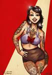 Pinup 34: Tattooed girl