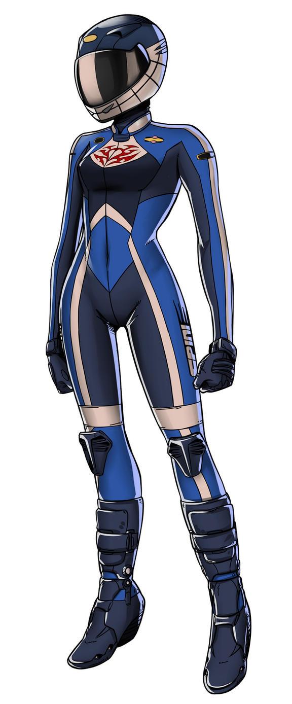 Anime biker girl