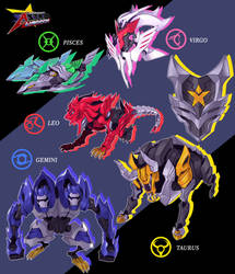 Astro Zords / The Chariots by Lysergic44