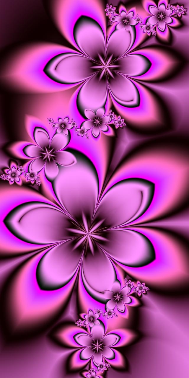 Pink Fractal Flowers by EsmeraldEyes