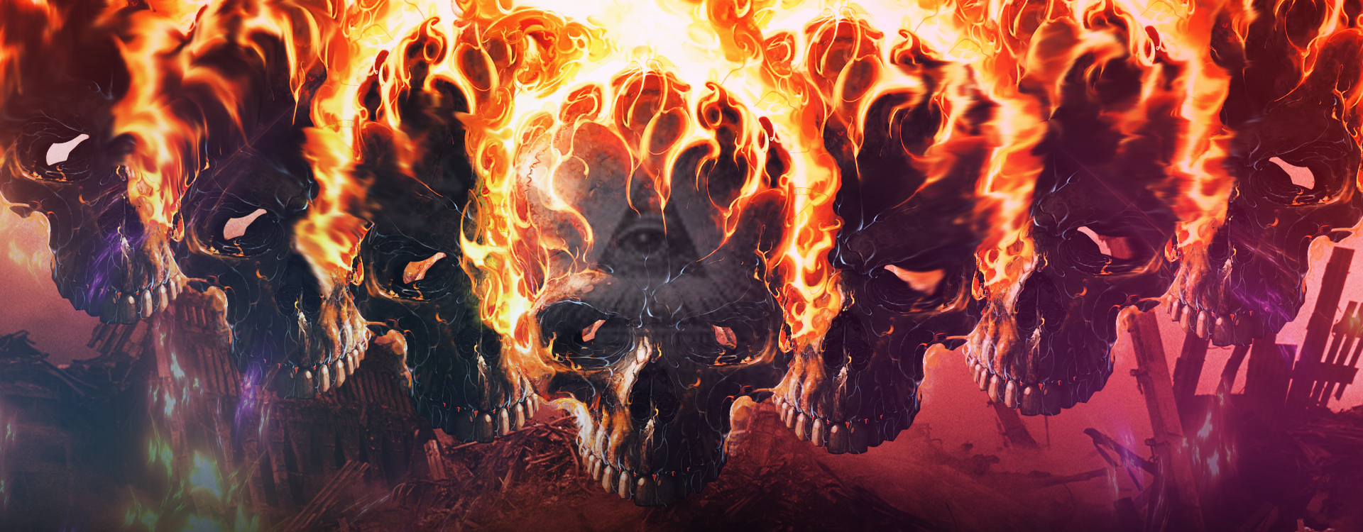 Illuminati Skull for fb timeline cover by freshofficial on ...