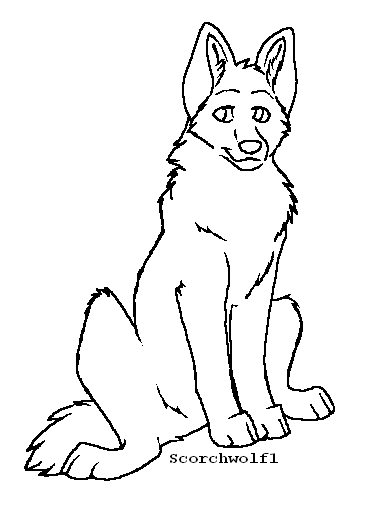 Puppy Lineart by ScorchWolf1