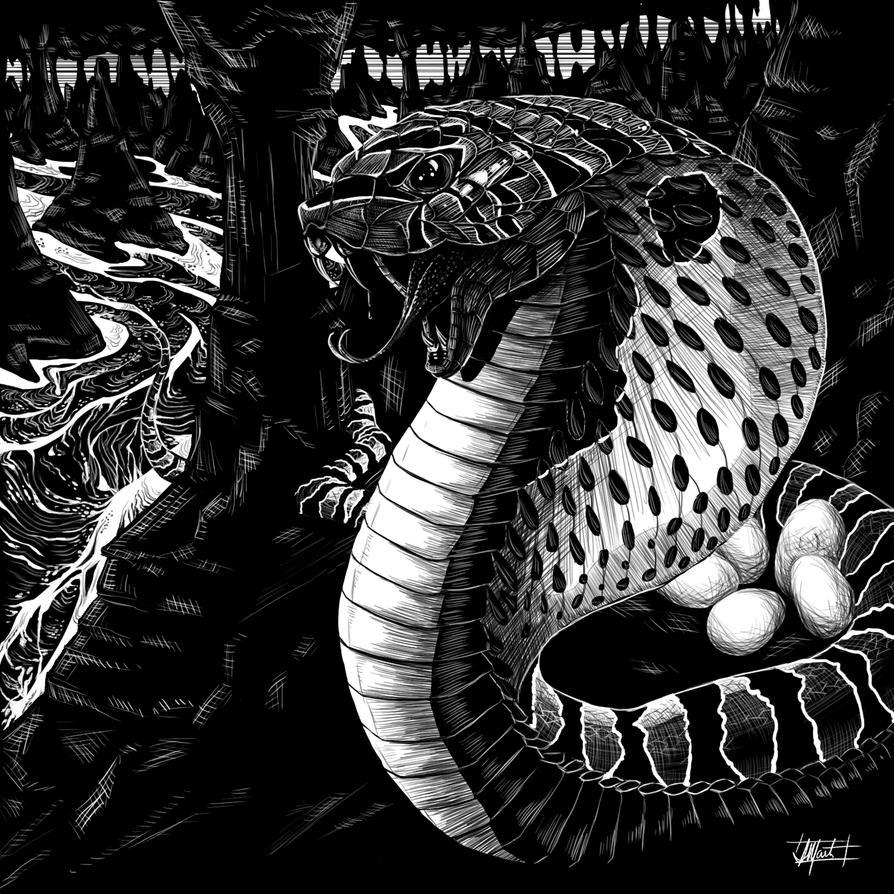 Dark Unknown Bestiary - Giant Snake by indigowarrior