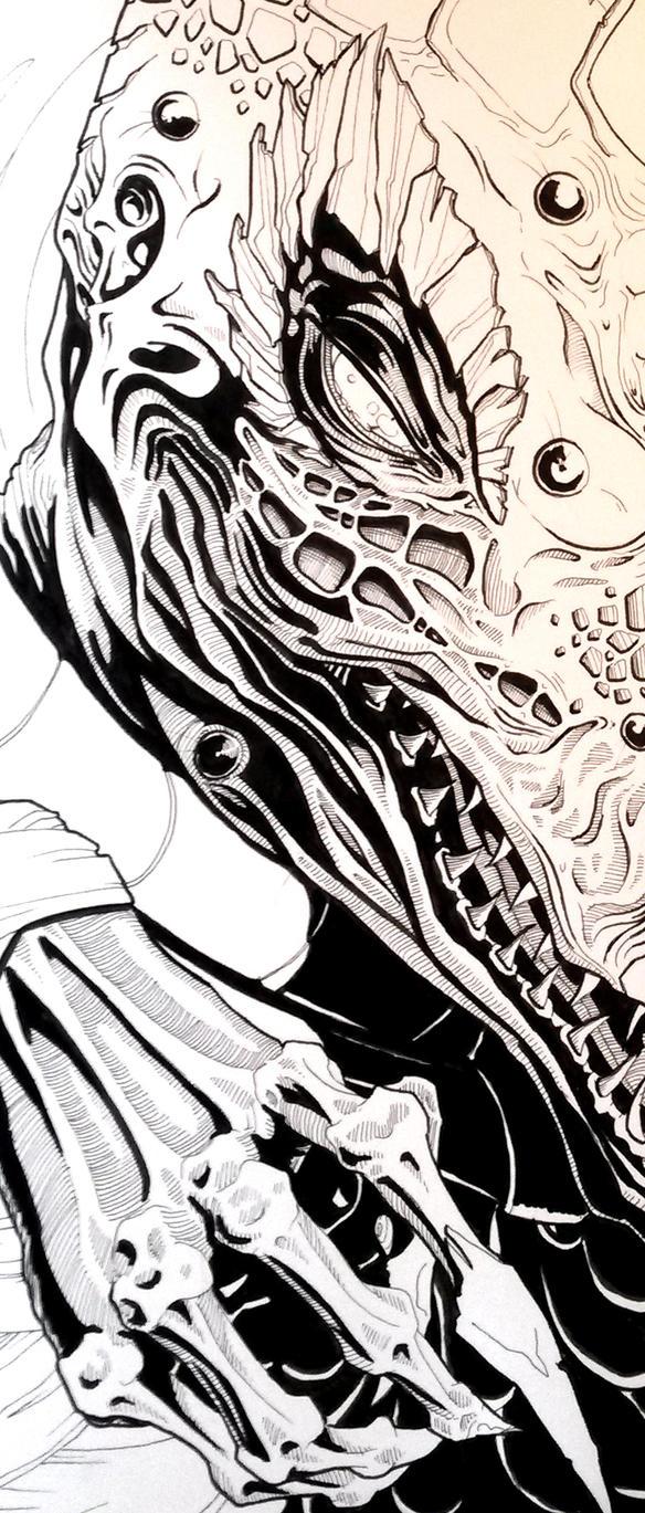 WIP Detail - Skeksi by indigowarrior