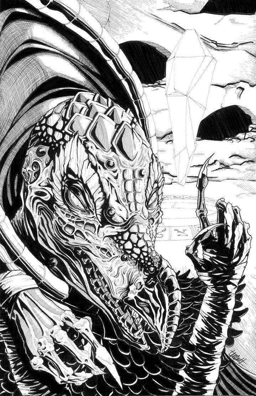 Skeksis - ink on bristol by indigowarrior