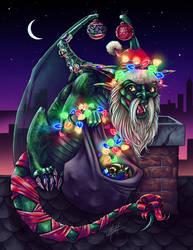 Patreon Hoiday Bonus: Gift Dragon by indigowarrior