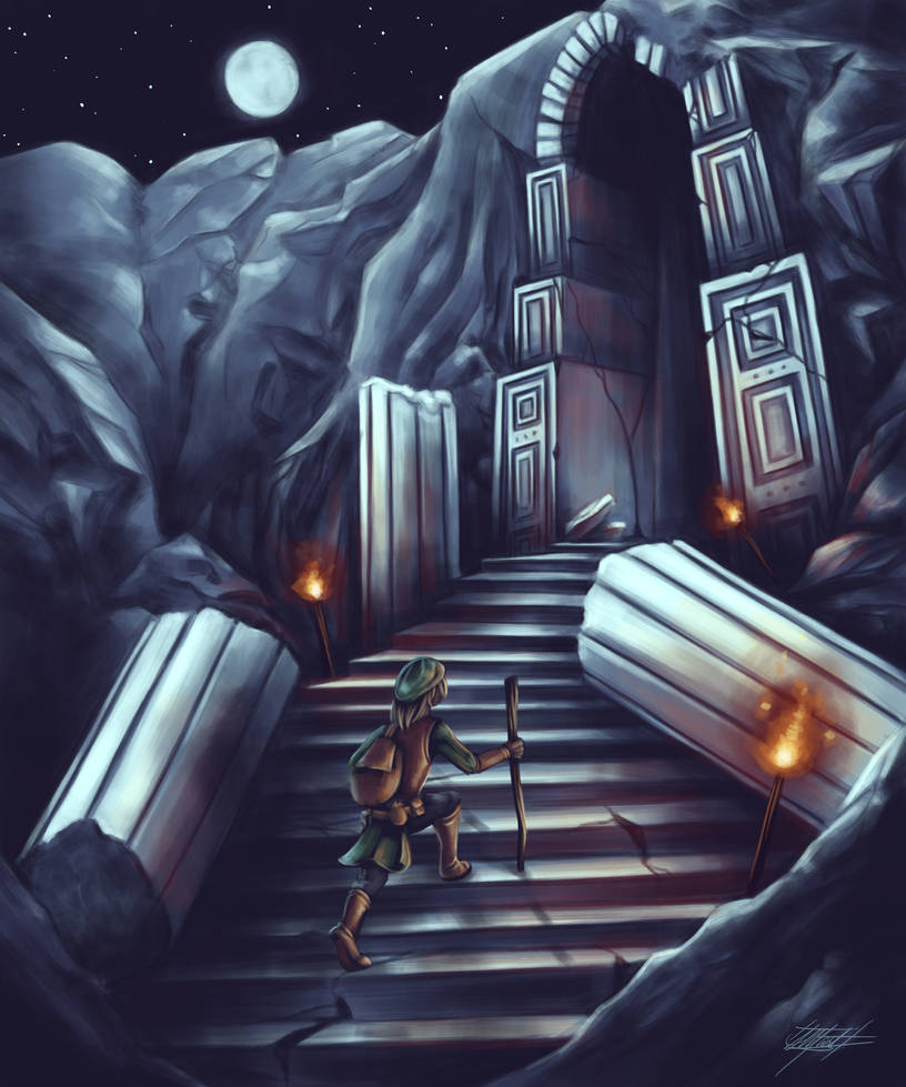 Adventure Post: Dungeon Entrance by indigowarrior