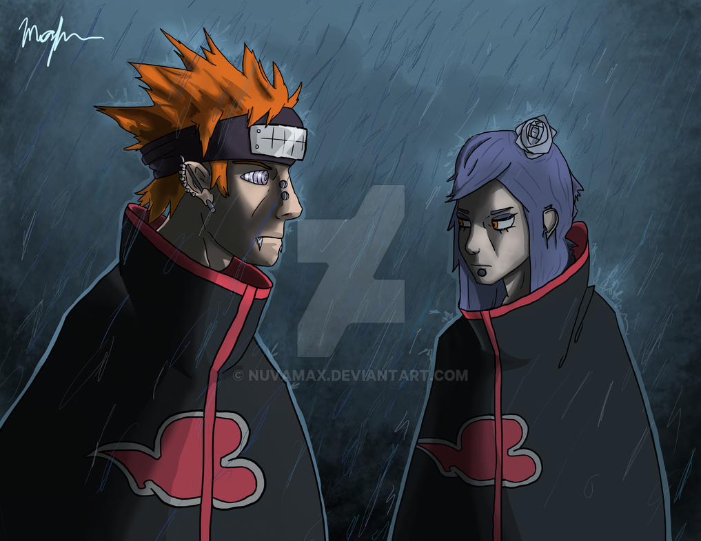 Pain and Konan by nuvamax