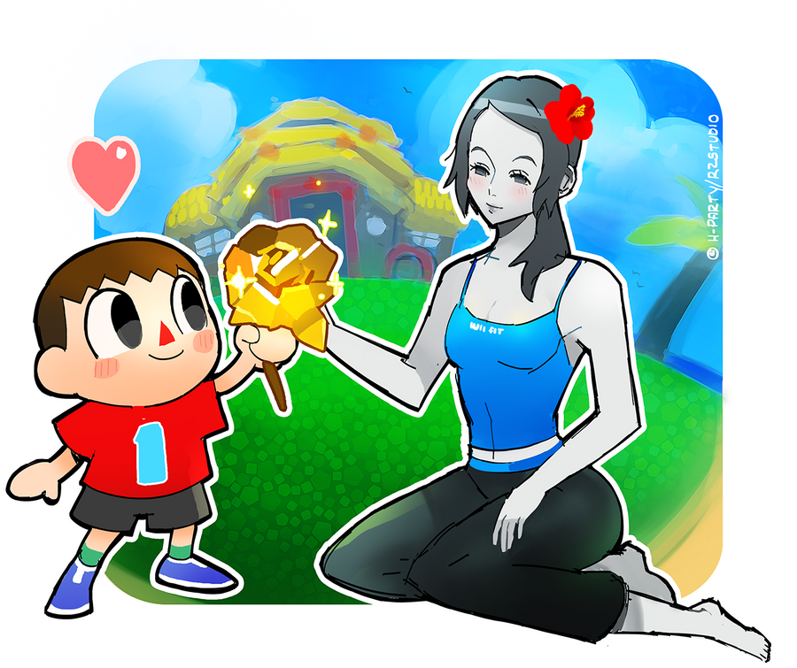 For you miss - Wii Fit Trainer and Villager by RZSTUDIO on ...