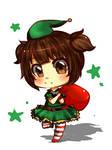 Christmas Elf on Duty! [ 5$ Chibi Sample ]