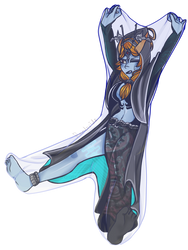 Human midna stretching her bubble (open for rp) by Randomnamemisingno