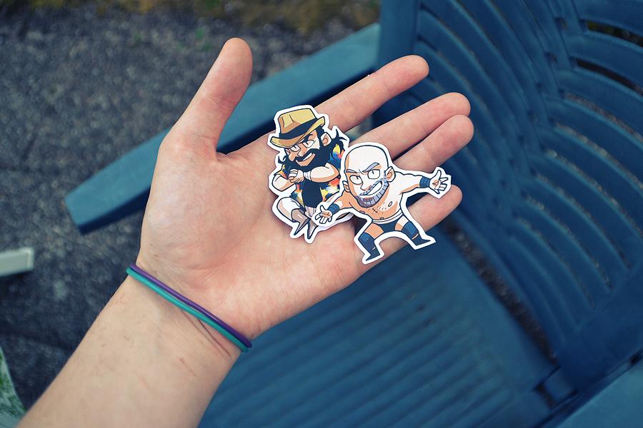Wwe Sticker Printed by tattiOsala