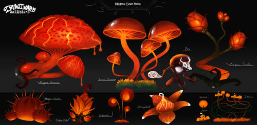Magma Cave Flora concept:Imagianry Guardians by Giar3579