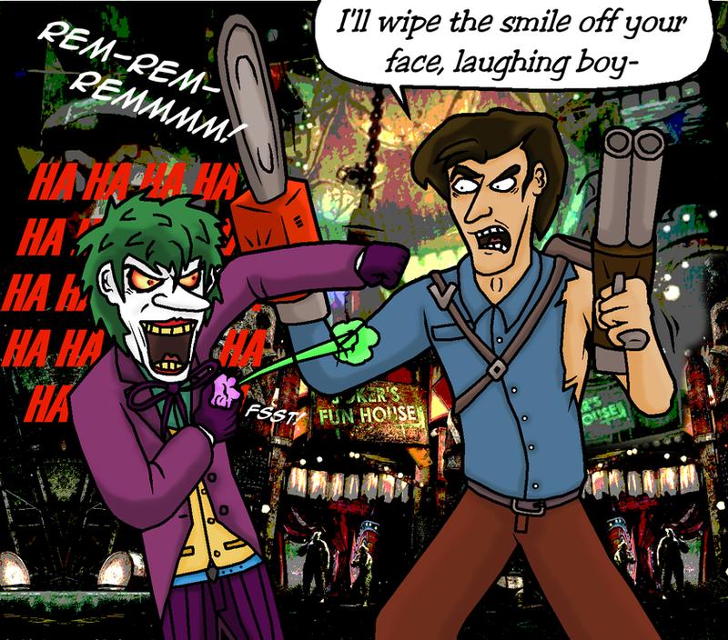 Ash J. Williams vs the Joker REDUX by The-Russian-Gestapo