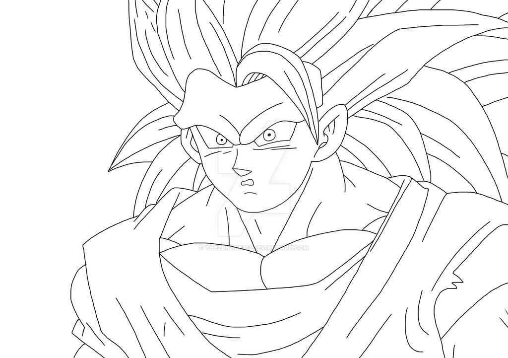 SSJ3 Goku [Lineart] By TheZunner313 On DeviantArt