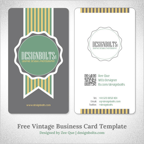 Free vector vintage business card template by designbolts for Eps business card template