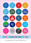 Free Cute Minimalist Social Media Icons