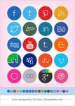 Free Cute Minimalist Social Media Icons