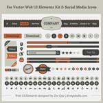 Fee Vector Simple Web UI Elements Kit