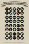 Free Hand Stitch Social Bookmarking Icons
