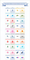 Ribbon Social Media Icons Pack
