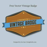 Free Vector Premium Vintage Badge by Designbolts