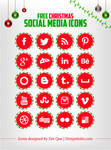 Free Social Media Icons for Christmas