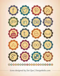 Free Retro Social Media Icons 2013