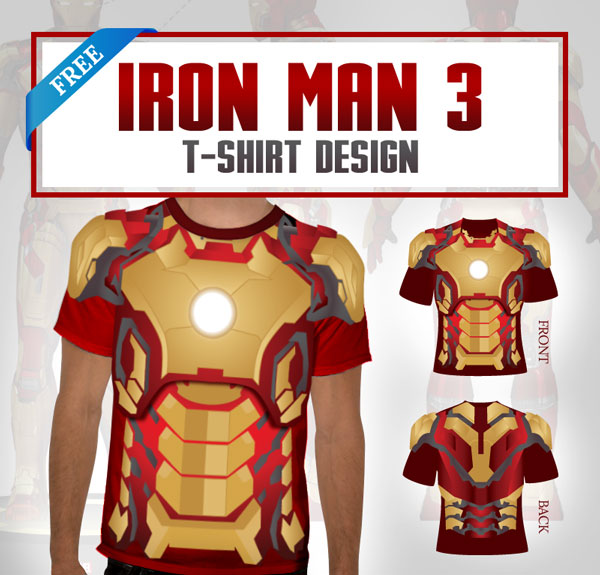 Free Iron Man 3 T-Shirt Design by Designbolts