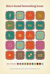 Retro social networking icons ver 3
