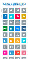 Free Social Media Icons For Professional Websites