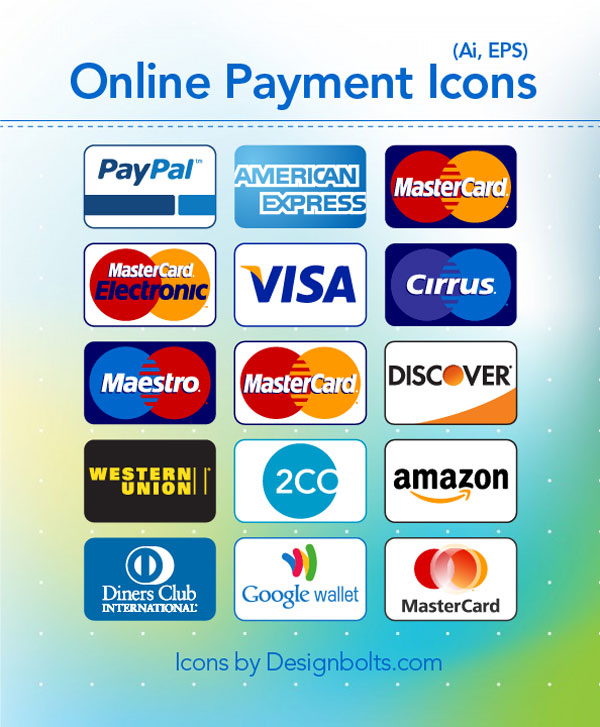 free credit card payment icons by designbolts on deviantart