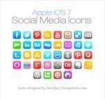 Apple iOS 7 Social Media Icons