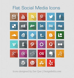 Flat Free Social Media Icons 2013 by Designbolts