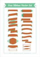 Free Ribbon Vector Set by Designbolts