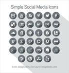 Free Long Shadow Simple Social Media Icons 2013