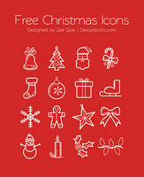 Free Christmas Icons Set by Designbolts