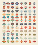 100 Free Vector Vintage Badges Stickers  Stamps