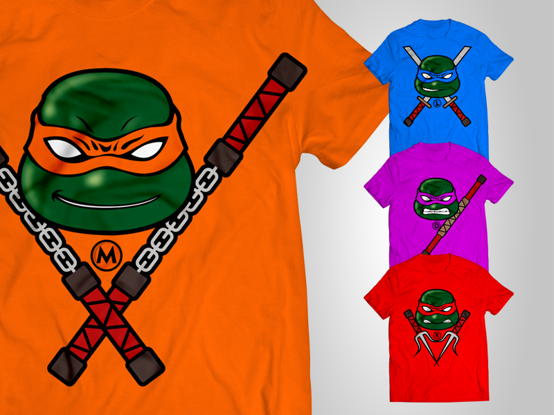 Free TMNT 2014 Tshirts Made for Fun by Designbolts