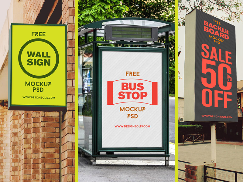 Free High Quality Outdoor Advertising Mockup PSD F by Designbolts