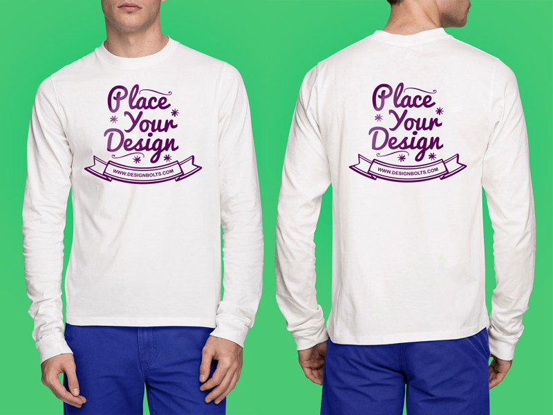 Free High Quality White T-Shirt Mock-up Psd by Designbolts