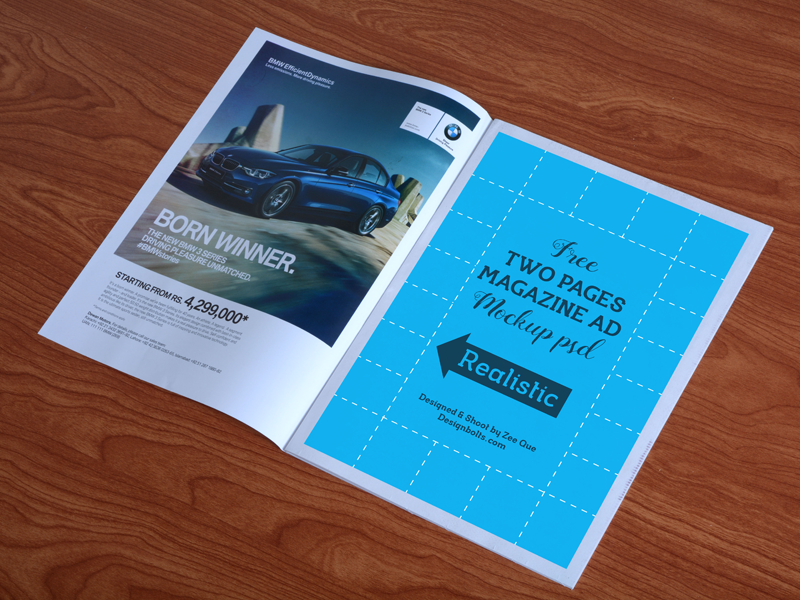 Free High Quality Magazine Ad Mockup PSD by Designbolts