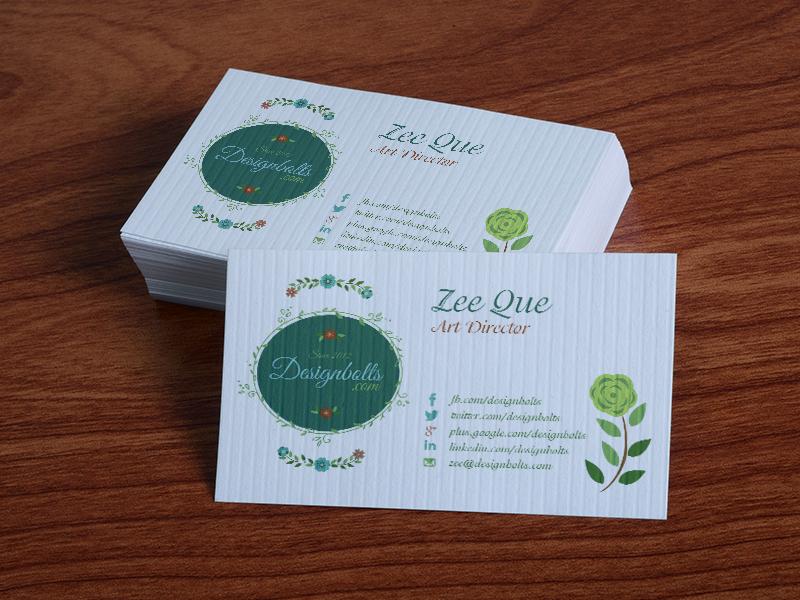 Free Textured Business Card Design Template - Mock by Designbolts
